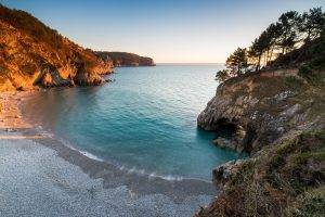 nature, Landscape, Beach, Sunset, Sea, Trees, Cave, Hill, Virgin Islands, Coves, Water, Turquoise
