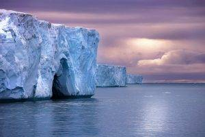nature, Landscape, Iceberg, Sea, Cold, Clouds, Arctic, Water, Sky
