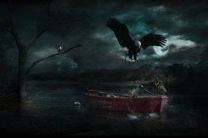 photo Manipulation, Nature, Boat, Landscape, Adobe Photoshop