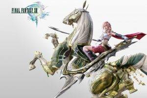 Final Fantasy, Final Fantasy XIII, Claire Farron, Sword, Horse, Video Games