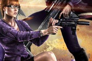 Saints Row, Saints Row IV, Video Games, Women, Redhead, Sniper Rifle, Gun, Weapon, Machine Gun