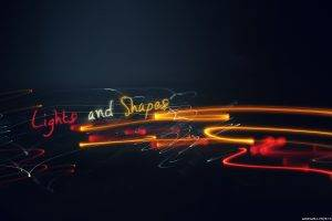 light Painting, Streaks, Typography, Simple Background