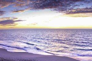 landscape, Sea, Beach, Sunrise, Australia, Multiple Display, Horizon