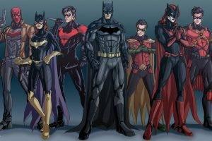 Batman, Robin (character), Nightwing, Batgirl, DC Comics, Red Robin, Batwoman, Red Hood