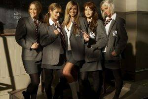 women, Schoolgirls, School Uniform