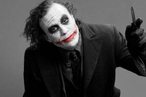 Joker, Heath Ledger, DC Comics, Black And Red, Batman, Photography