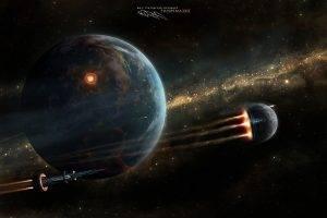 Taenaron, Render, CGI, Futuristic, Spaceship, Planet, Space