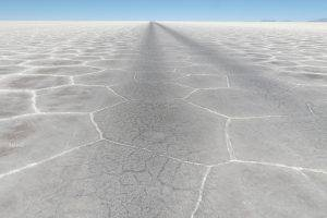nature, Landscape, Horizon, Salt Lakes, Desert, Bolivia, Hill, Minimalism, Dry, Dried