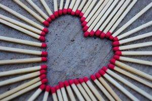 matches, Love, Hearts