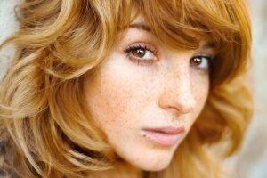 redhead, Freckles, Women