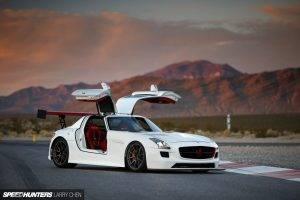 Mercedes SLS, Mercedes Benz SLS AMG, Mercedes Benz, Car, Speed Hunters, Super Car