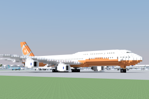 aircraft, Airplane, Boeing 747, 3D Blocks, Airport