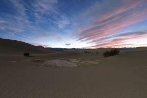 nature, Landscape, Clouds, Sand, Dune, Desert, Sunset, Plants, Evening, Stars, Long Exposure