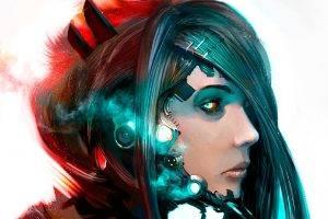 women, Cyborg, Artwork, Fantasy Art, Robot, Concept Art, Androids