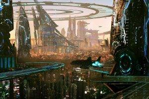 artwork, City, Futuristic, Digital Art, Building, Skyscraper