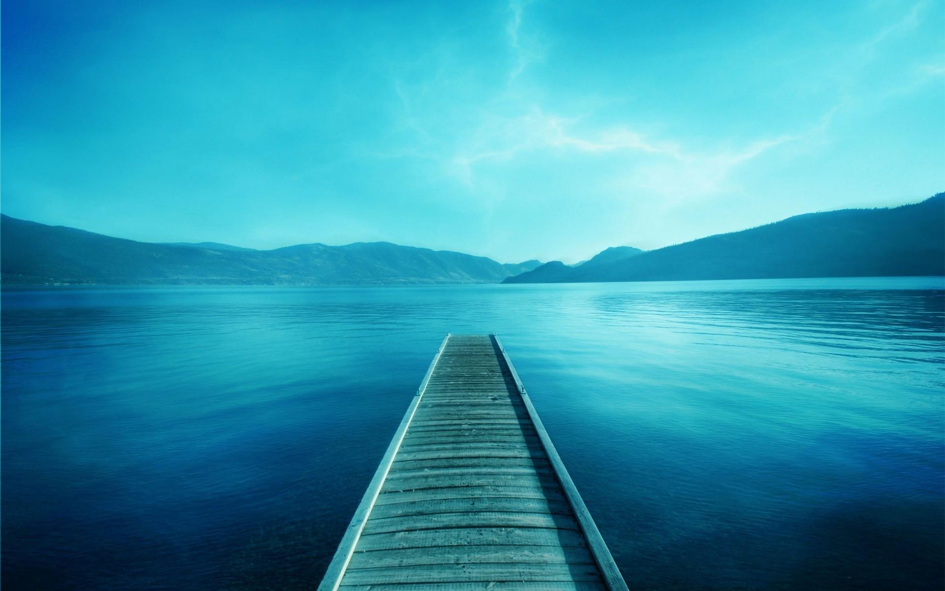 blue, Photography, Lake, Water, Pier, Landscape Wallpapers ...Lake Water Wallpaper