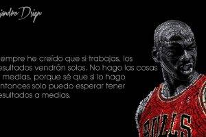 typographic Portraits, Michael Jordan, Basketball, Chicago Bulls, Black Background, Quote