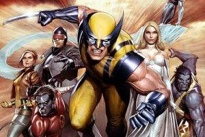 comics, Wolverine, X Men, Beast (character), Emma Frost