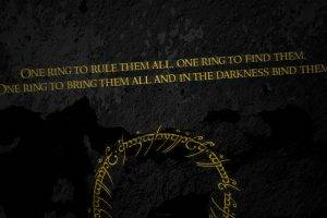 The Lord Of The Rings, Quote, Typography, Dark Background