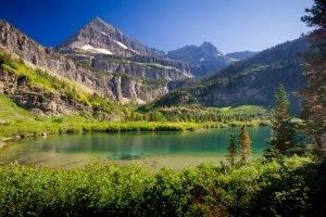 nature, Lake, Mountain, Canada