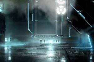 artwork, Fantasy Art, Futuristic, City, Tron