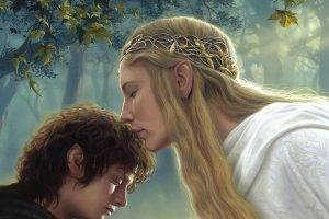 Galadriel, Frodo Baggins, Cate Blanchett, Elijah Wood, The Lord Of The Rings, Fantasy Art