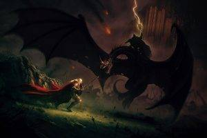 The Lord Of The Rings, Artwork, Battle, Éowyn, Witchking Of Angmar