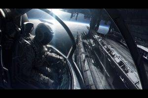 space, Spacesuit, Spaceship