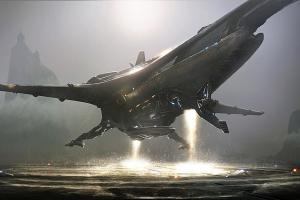 fantasy Art, Science Fiction, Spaceship, Aliens, Banu Merchantman, Star Citizen, Concept Art