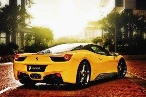 car, Ferrari, Ferrari 458, Ferrari 458 Italia, Yellow Cars