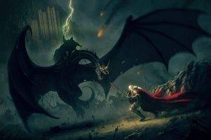 J. R. R. Tolkien, Fantasy Art, The Lord Of The Rings, Battle, Éowyn, Witchking Of Angmar, Nazgûl