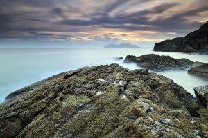 nature, Sea, Mist