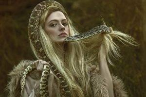 fantasy Art, Women, Snake