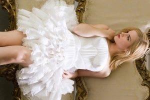 Emma Watson, Women, Actress, White Dress, Blonde