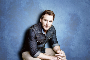 Chris Pratt, Actor, Blue Background