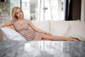 blonde, Model, Russian, Blue Eyes, Women