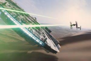 Star Wars, Movies, Millennium Falcon, Spaceship