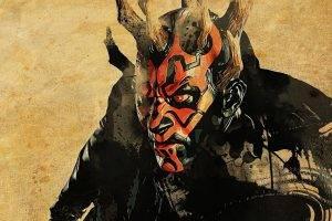 Star Wars, Darth Maul, Artwork, Movies, Horns