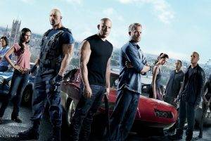 movies, Fast And Furious, Dwayne Johnson, Paul Walker, Vin Diesel, Gal Gadot, Jordana Brewster