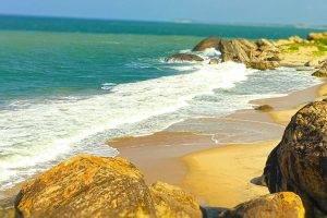 Sri Lanka, Nature, Beach, Waves, Sea, Rock, Photography