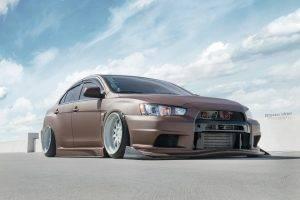 Mitsubishi Lancer Evo X, Evolution, Mitsubishi Lancer, Mitsubishi, Chocolate, Car