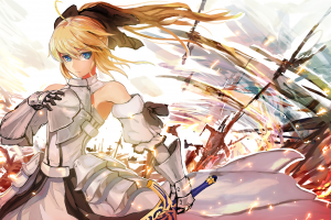 anime Girls, Anime, Fate Series, Saber, Saber Lily