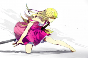 anime, Anime Girls, Oshino Shinobu, Long Hair, Blonde, Monogatari Series