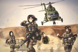 TC1995, Military, Mi 8, Women, Anime Girls, Weapon, Helicopters