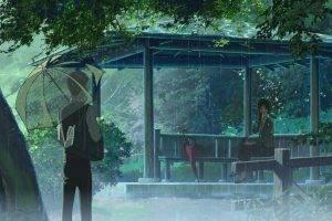 rain, The Garden Of Words, Makoto Shinkai