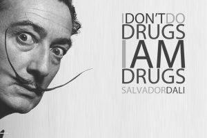 Salvador Dalí, Painting, Fantasy Art, Skull, War, Clocks, Time, Drugs