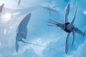fantasy Art, Creature, Clouds