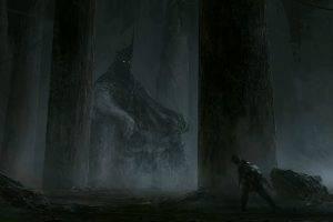 artwork, Dark, Pillar, Fantasy Art