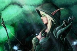 elves, Women, Fantasy Art, Archers