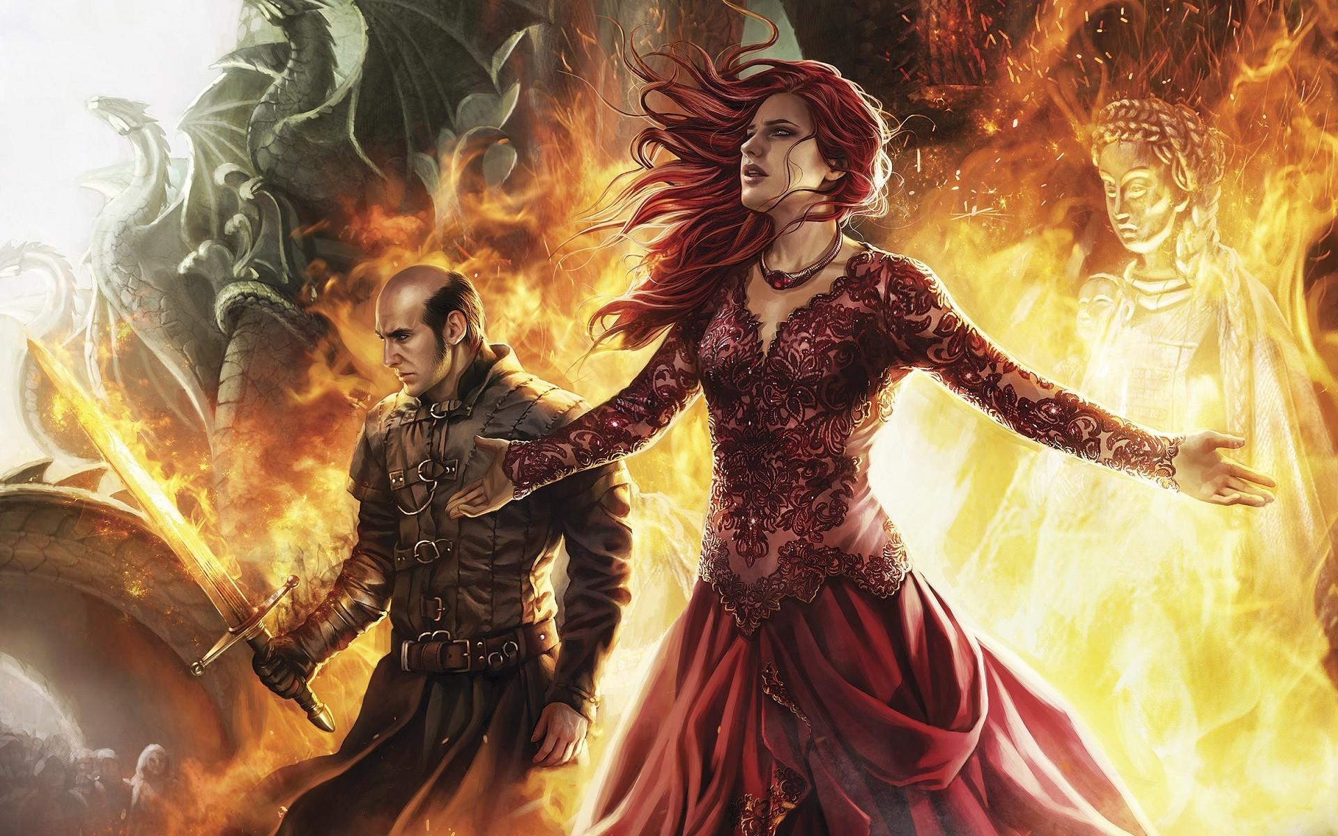 Artwork Fantasy Art Game Of Thrones Fire Statue Dragon Sword